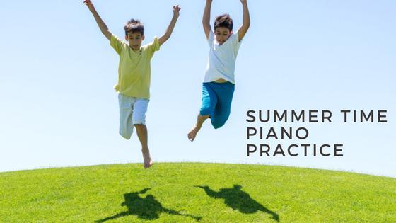 Summer timepiano practice