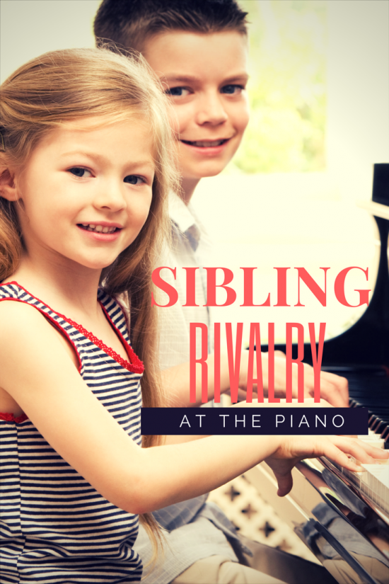 Sibling Rivalry At the Piano.