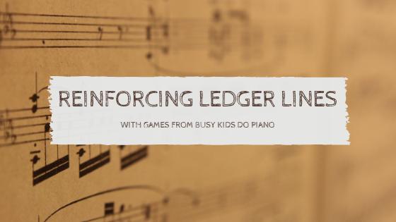 Reinforcing Ledger Lines