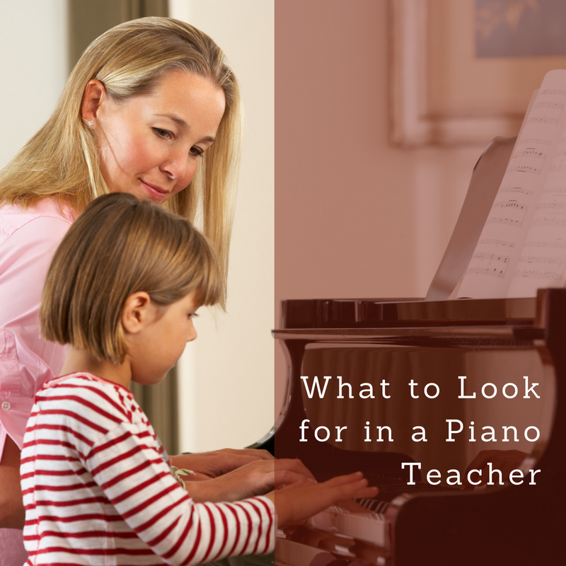 What to Look For In A Piano Teacher.