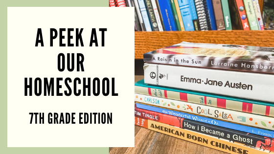 A Peek At Our Homeschool (7th Grade Edition)
