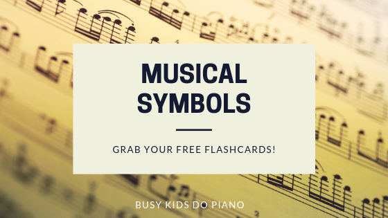 musical symbols blog header