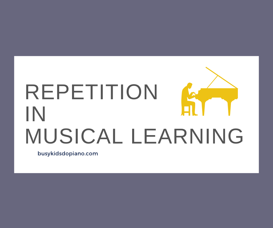 Repetition in Musical Learning